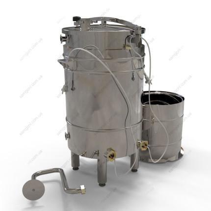 Пивоварня-дистиллятор 72 л косвенного нагрева на пропилегликоле с бункером