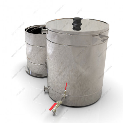 Пивоварня гибридная 62 литра с бункером