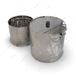 Пивоварня гибридная 98 литра с бункером