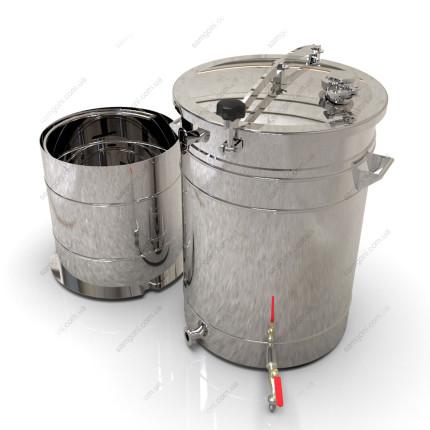 Пивоварня-дистиллятор гибридная 72 литра с бункером