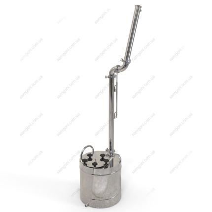 Дистиллятор с узлом жидкостного отбора и обратным конденсатором
