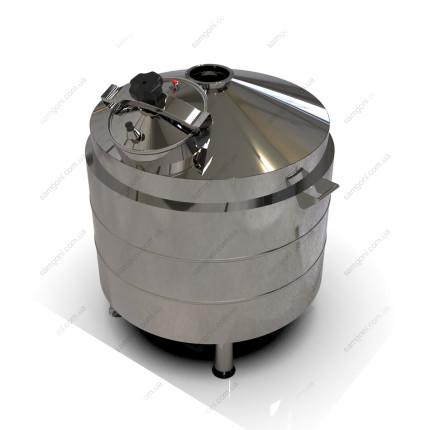 Котел косвенного нагрева 127 литров с конусным верхом и низом