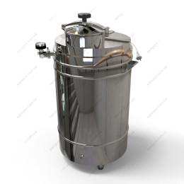 Котел косвенного нагрева 127 литров с крышкой от скороварки на воде