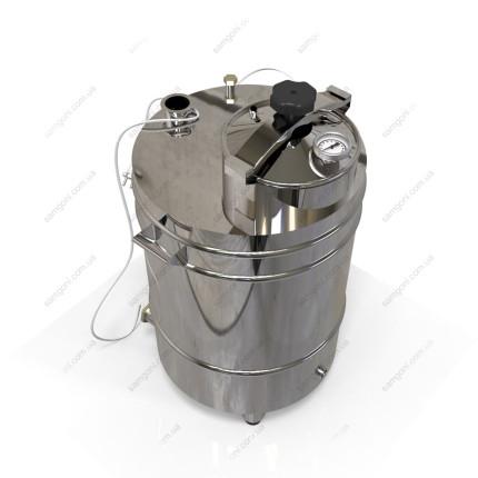 Котел косвенного нагрева 62 литра с крышкой от скороварки на пропиленгликоле