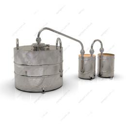Самогонный аппарат классика 37 литров с клампом 4 дюйма для проточной воды