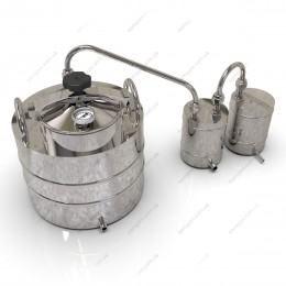Самогонный аппарат классика 37 литров с крышкой от скороварки для проточной воды