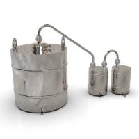 Самогонный аппарат классика 50 литров с клампом 4 дюйма для проточной воды