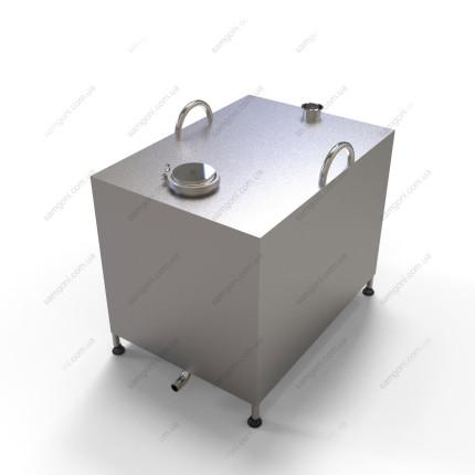 Перегонный куб из нержавейки 180 литров с кламповой крышкой