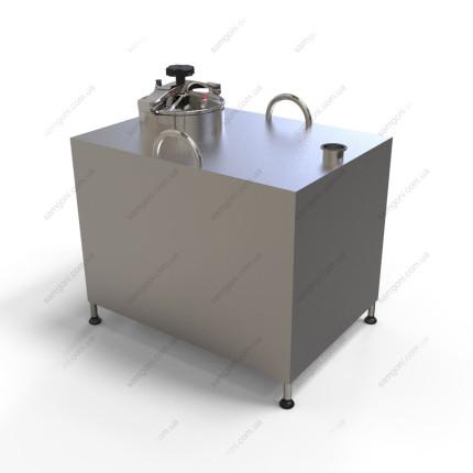 Перегонный куб из нержавейки 180 литров с крышкой от скороварки