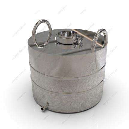 Перегонный куб из нержавейки 37 литров с кламповой крышкой