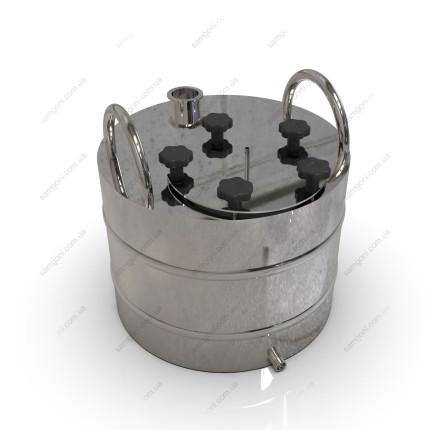 Перегонный куб из нержавейки 37 литров с фланцевой крышкой