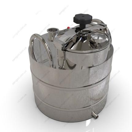 Перегонный куб из нержавейки 37 литров с крышкой от скороварки