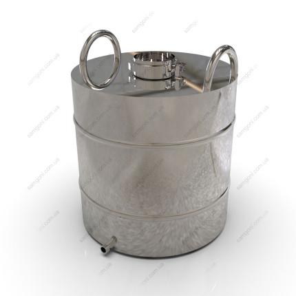 Перегонный куб из нержавейки 50 литров с кламповой крышкой