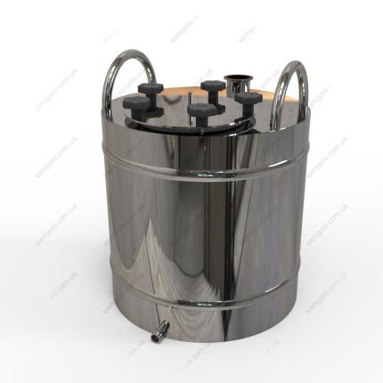 Перегонный куб из нержавейки 50 литров с фланцевой крышкой