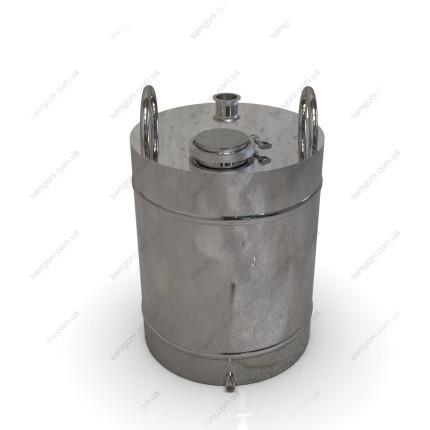 Перегонный куб из нержавейки 62 литра с кламповой крышкой