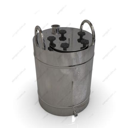 Перегонный куб из нержавейки 62 литра с фланцевой крышкой