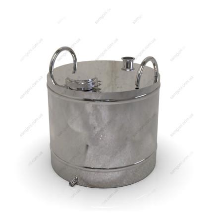 Перегонный куб из нержавейки 72 литра с кламповой крышкой