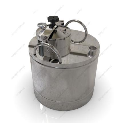 Перегонный куб из нержавейки 72 литра с крышкой от скороварки