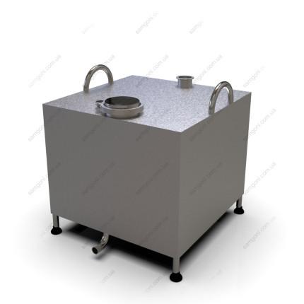 Перегонный куб из нержавейки 93 литра с кламповой крышкой